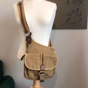 Fossil Canvas Messenger Bag